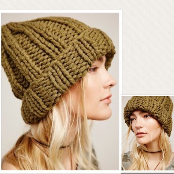 58388a7cc1196 Free People Accessories - Free people chunky knit beanie